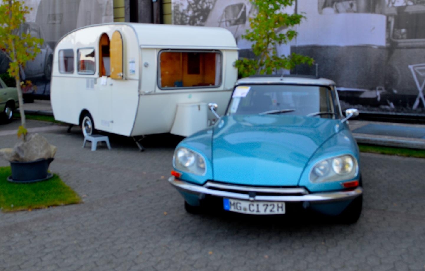 A 1972 Citroen DS 20 Pallas gone campin'