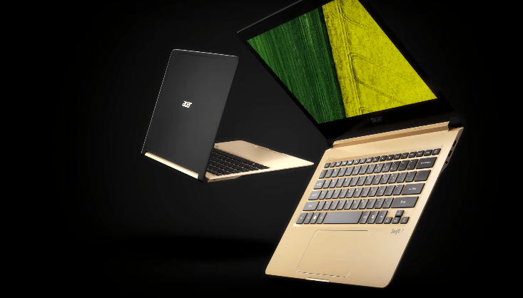 The Acer Swift 7 is less than 1 cm thick