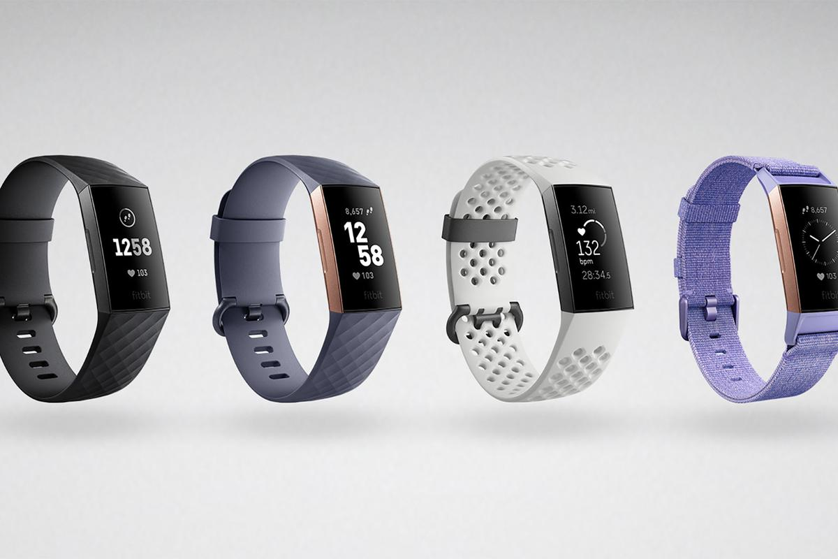 The Fitbit Charge 3 comes with silicone, leather or fabric straps in a choice of colors