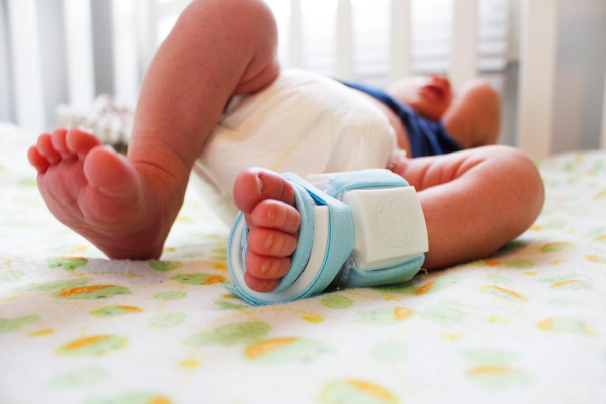 The Owlet smart sock monitors a baby's vital signs through its foot (Photo: Owlet Baby Care)