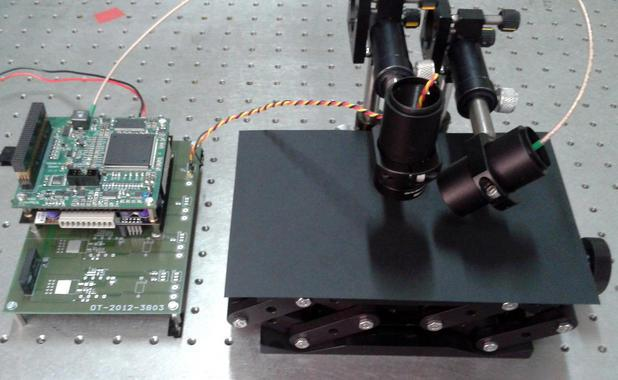 The optical sensor system developed to detect the amount of salt on a road (Photo: UC3M)
