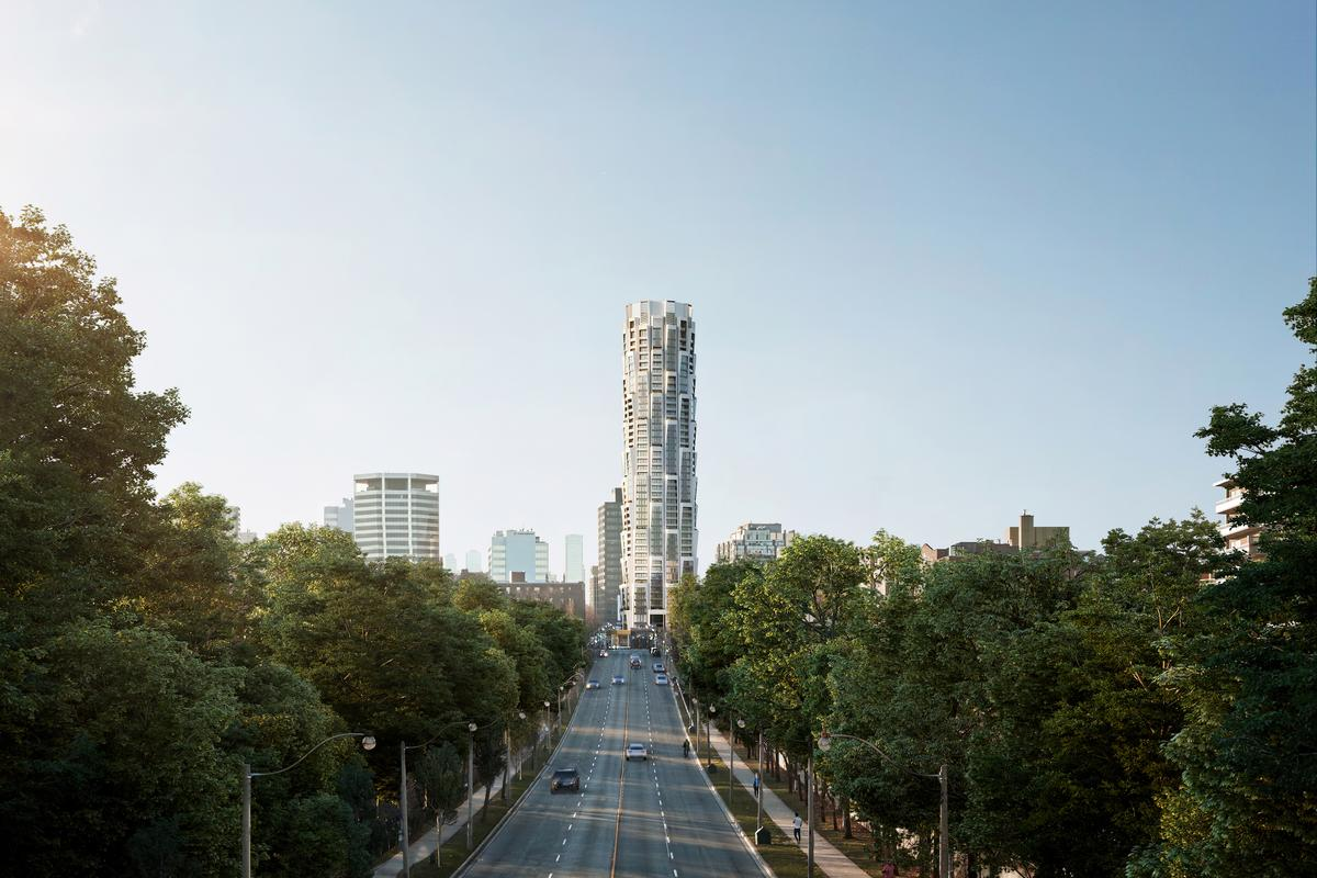 One Delisle will rise to a height of 158 m (518 ft) in Toronto, Canada