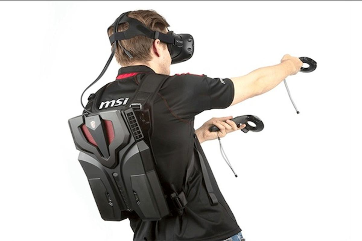 MSI has introduced the VR One, a backpack PC for use with the HTC Vive and other headsets