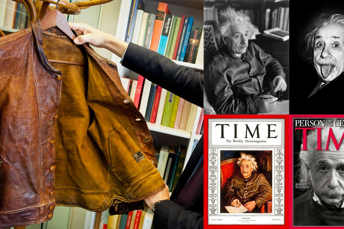 Albert Einstein's jacket appeared on the cover of Time magazine.