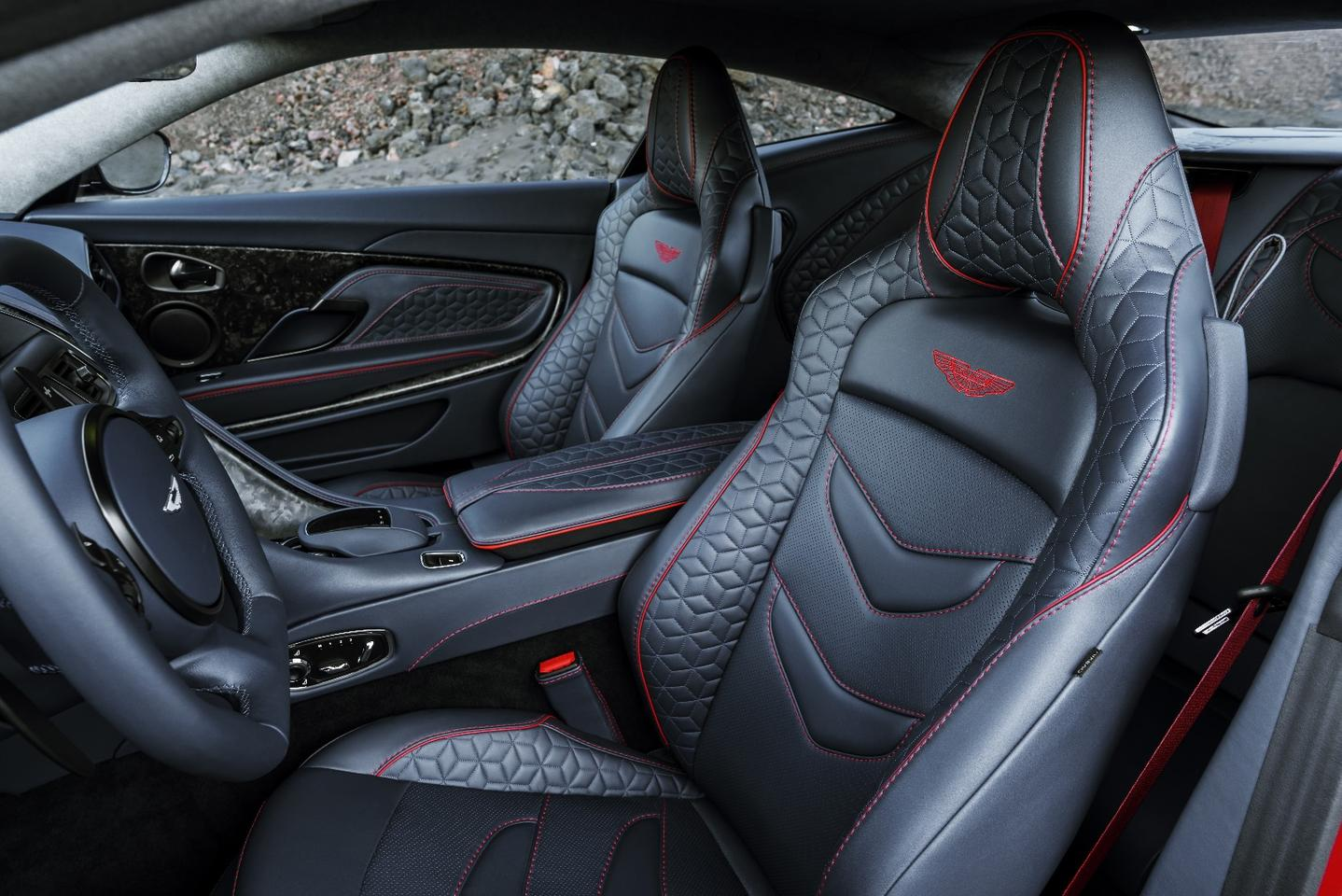 "DBS Superleggera interior: that leather's supposed to be ""supple and aromatic"""