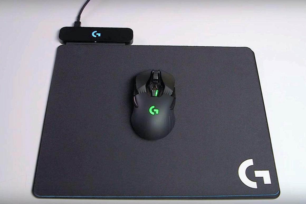 The Powerplay wireless charging mousepad from Logitech