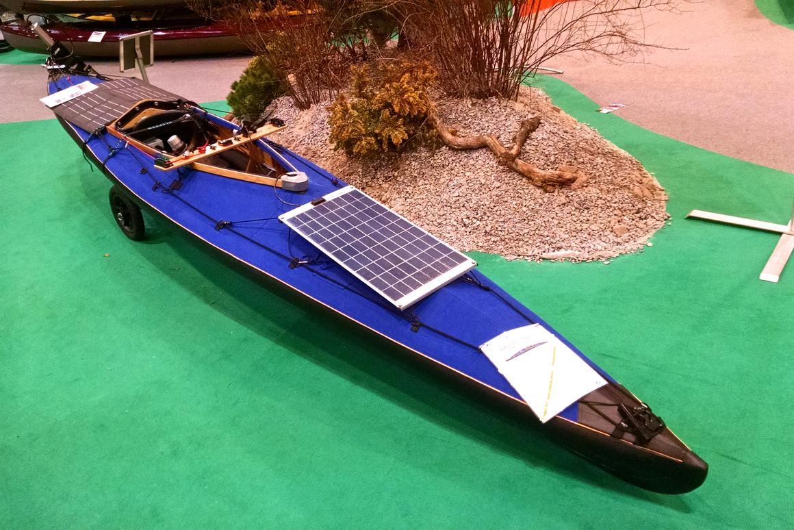 Klepper's solar-powered E-Kayak gives your arms a rest