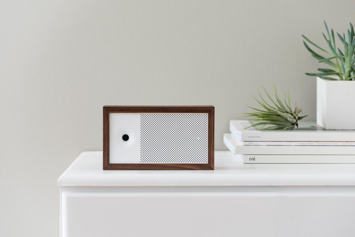 Awair resembles a stylish Bluetooth speaker
