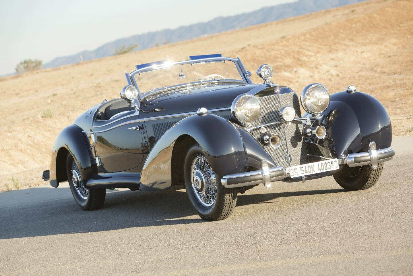 Only 25 540 K Special Roadsters were made and very few have survived. This car is quite possibly the last one built, and boasts a fully unique, owner-commissioned design, built by the Mercedes-Benz factory's Sindelfingen works with features that elegantly bridge the gap between 1930s elegance and 1950s streamlining. The elite collector car industry will be closely monitoring the price it fetches on January 20.