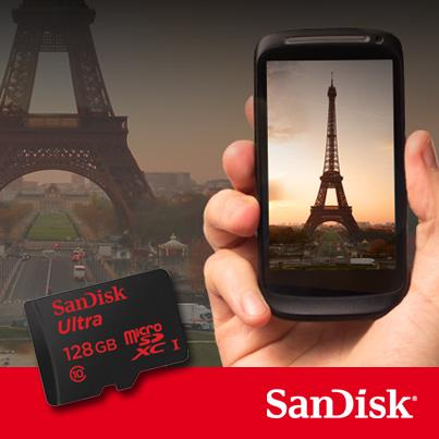 SanDisk reports that its 128 GB microSDXC memory card can capture lag-free Full HD video and offers read speeds of up to 30 MB/s
