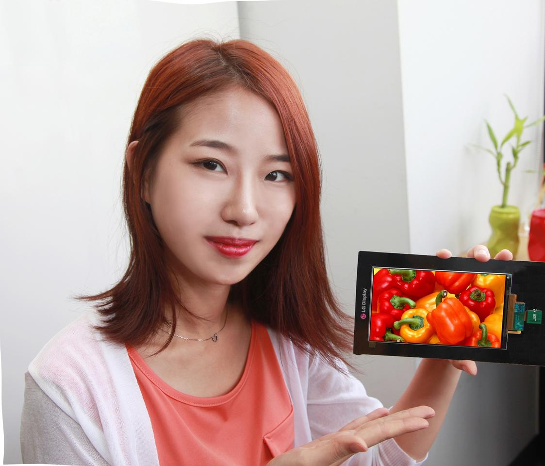 LG Display says that currently-available smartphone screens can't touch its new panel for color reproduction or contrast ratio