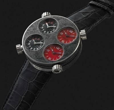 Driving precision: the Meccaniche Veloci carbon fiber wristwatch