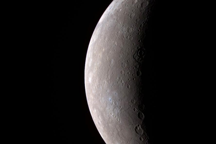 Image of the planet Mercury captured by MESSENGER in 2008