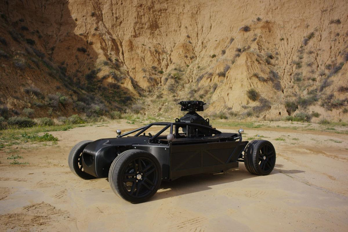 The Blackbird by The Mill: a visual effects stand-in that can mimic the driving characteristics of nearly any car for filming and CGI replacement