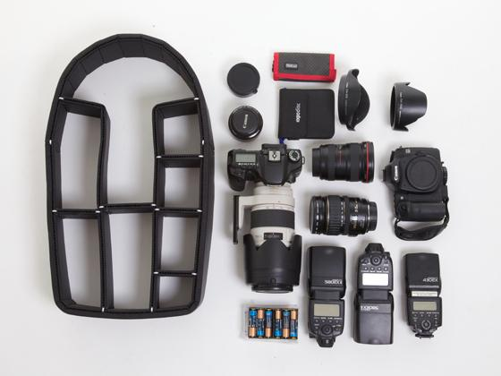 TrekPak lets you equip a standard backpack with an advanced organization system