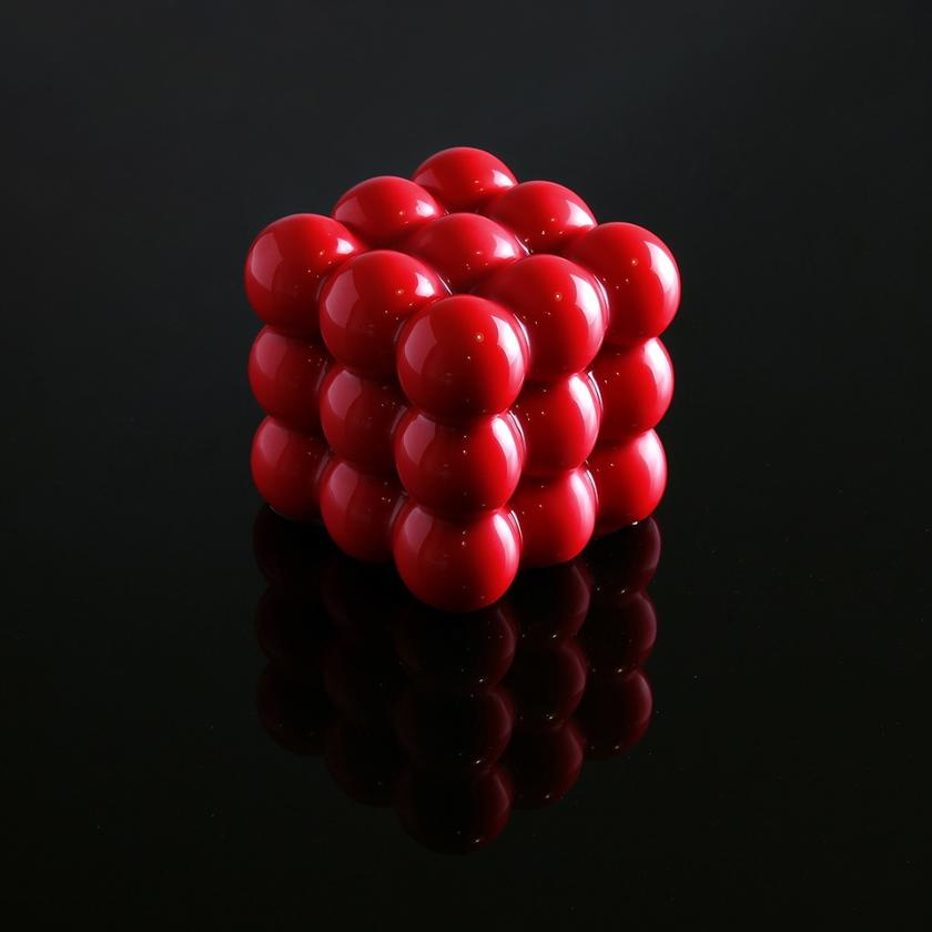 One of the early geometric moulds dubbed '3X3X3 Spheres'