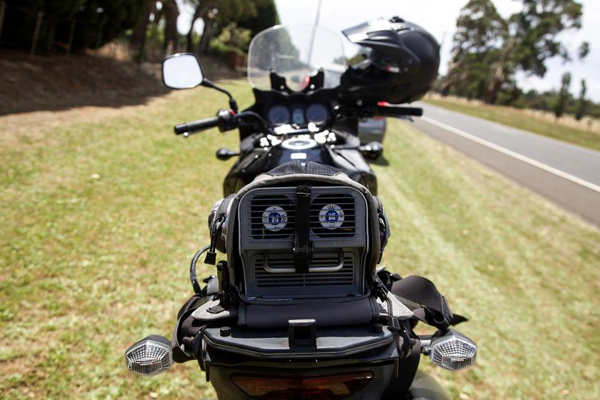 Review Entrosys Bikeair Motorcycle A C System