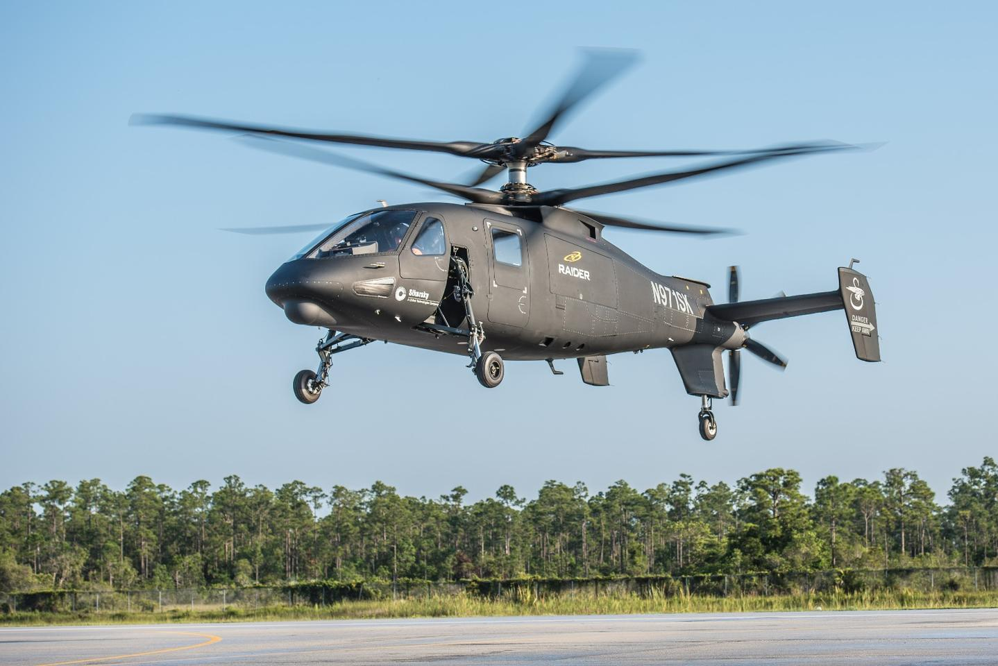 The Sikorsky S-97 Raider prototype takes to the air for the first time