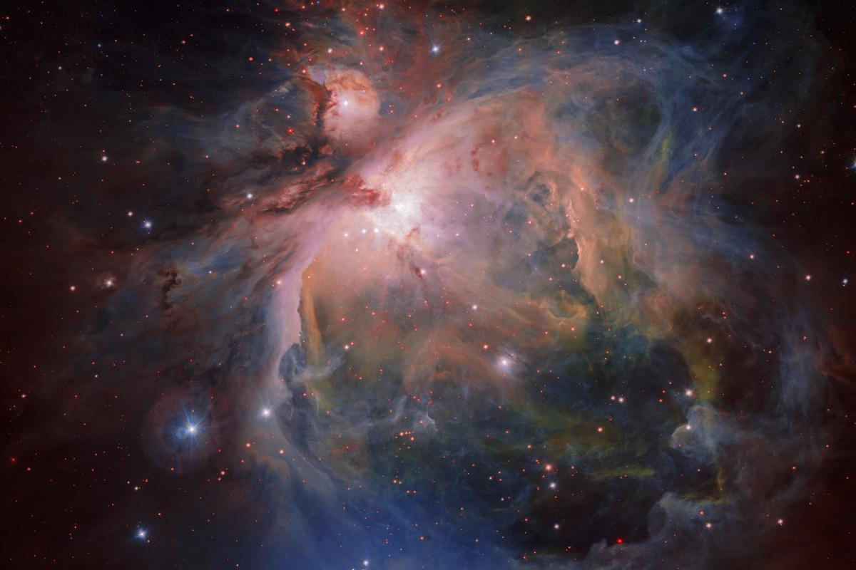 The Orion Nebula as captured by the OmegaCAM instrument