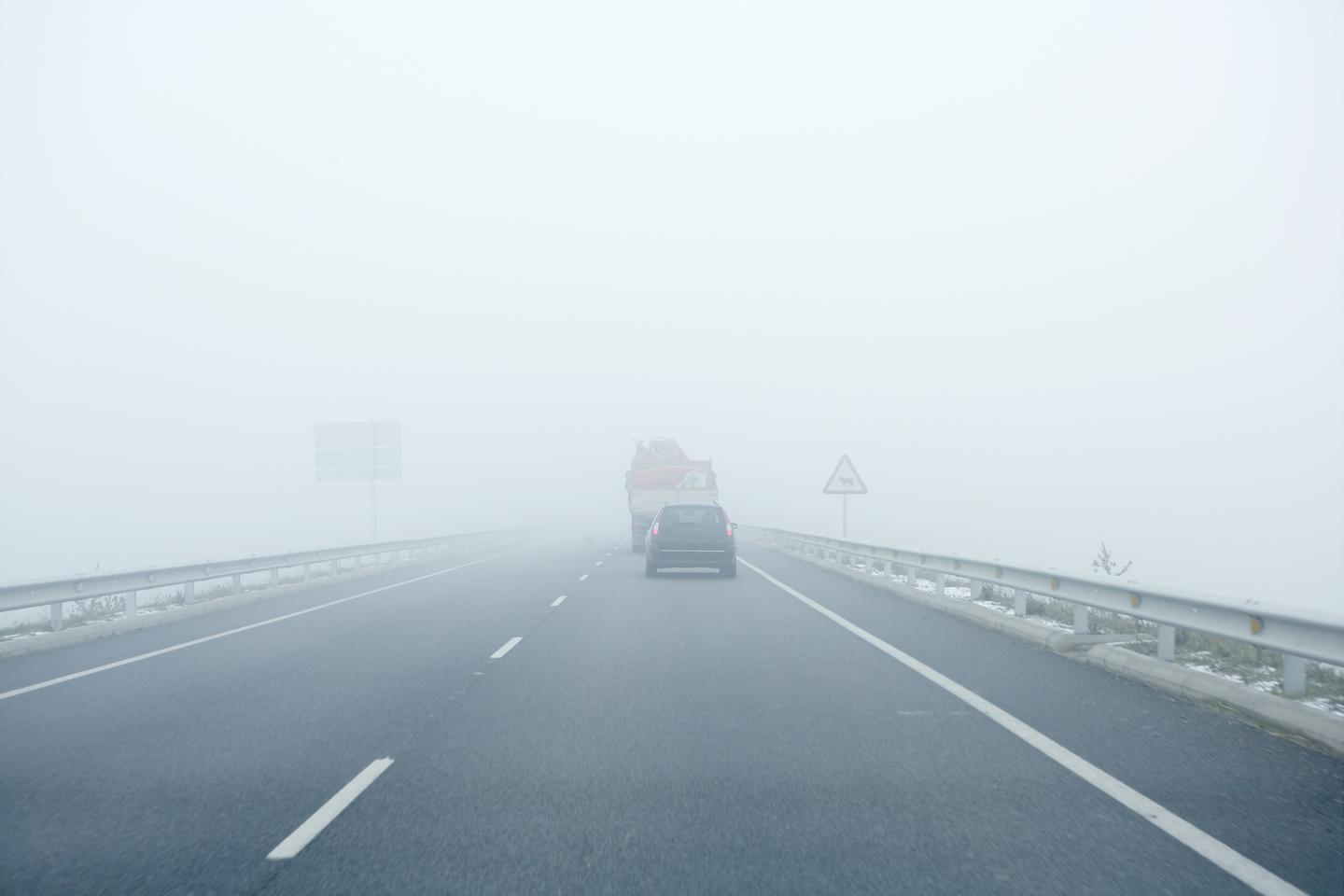 Neither LiDAR nor traditional radar systems are particularly good at imaging vehicles that are hidden on foggy roads
