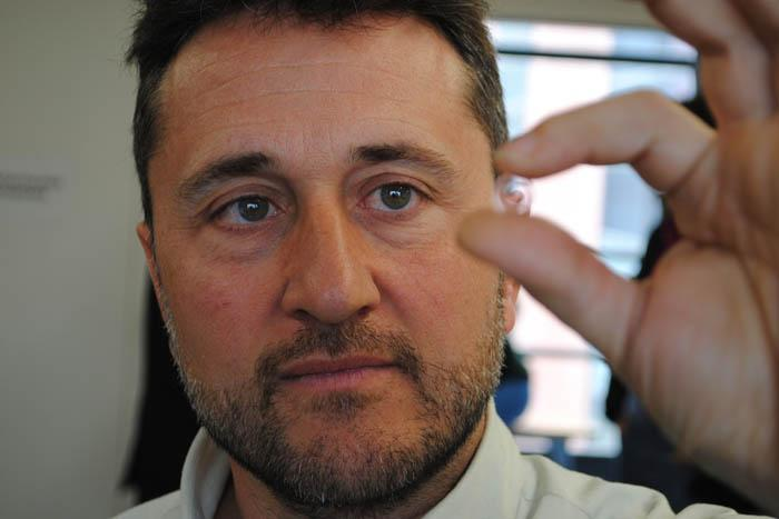 Optician and optometrist Jaume Paune is the creator of contact lenses capable of correcting hyperopia without surgery