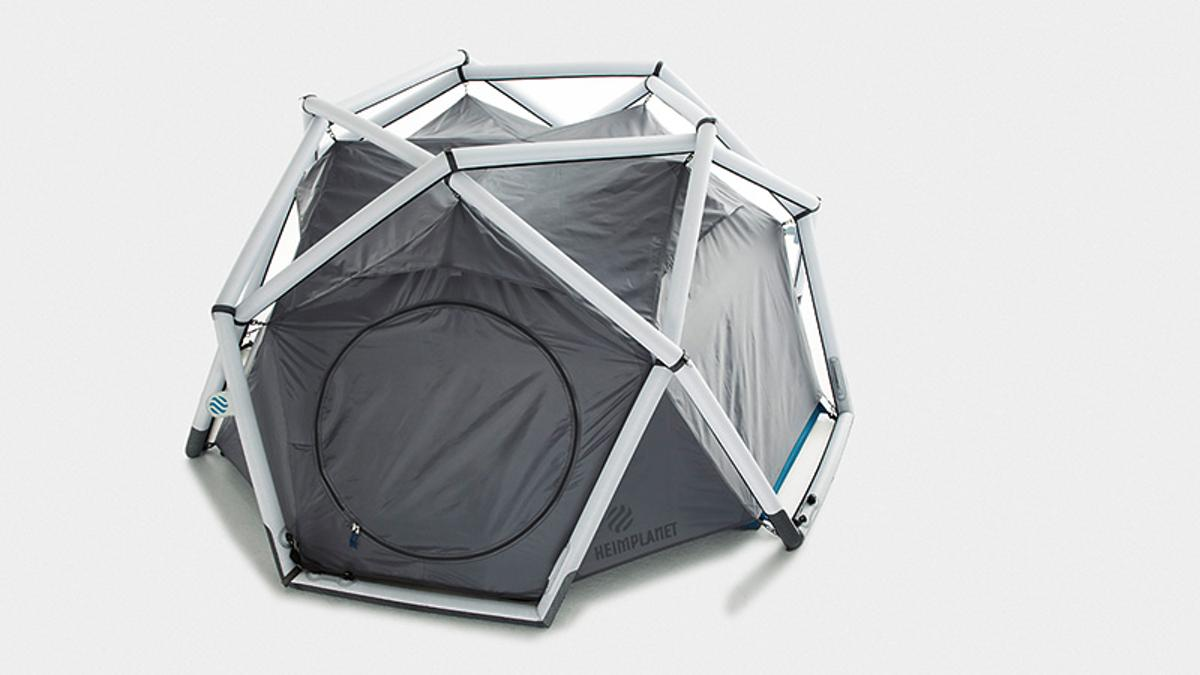 """The inflatable geodesic """"Cave"""" tent from Heimplanet"""