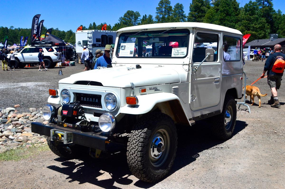 Fittingly the first vehicle we came across at this year's show was a 1973 Toyota Land Cruiser FJ40 owned by Overland Expo co-director/owner Jonathan Hanson