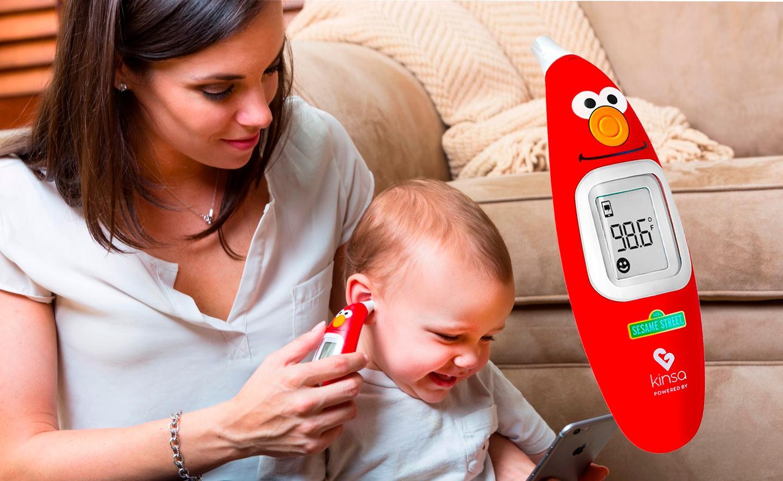 The kid-friendlyKinsa Sesame Street Smart Ear Thermometer