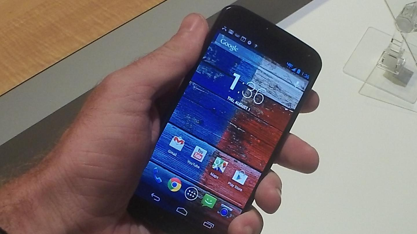 Motorola's new Moto X, unveiled in NYC