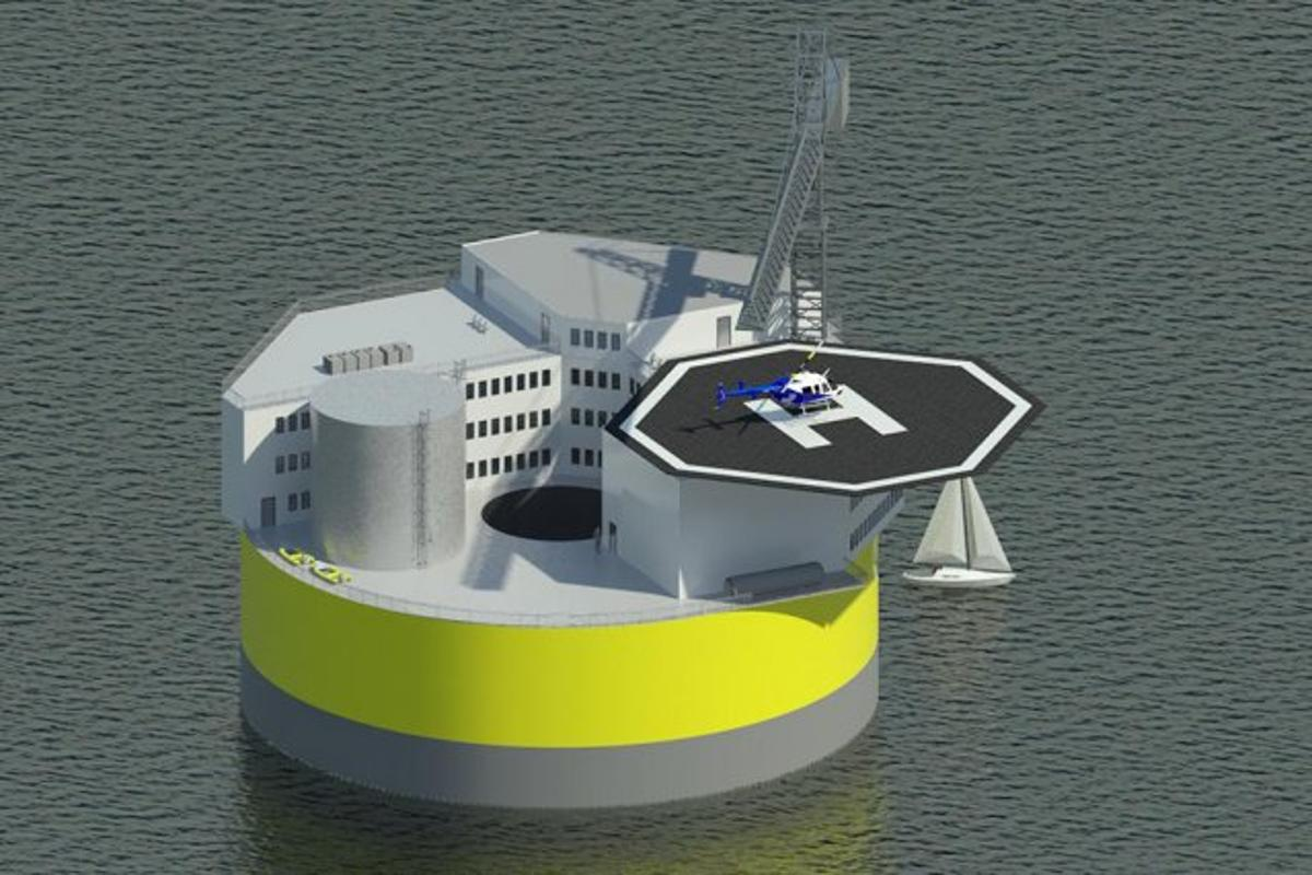 MIT proposes building floating nuclear power plants located 5 to 7 miles into the ocean, enabling the nuclear power plants to ride out a tsunami without sustaining damage (Image: Jake Jurewicz/MIT-NSE)