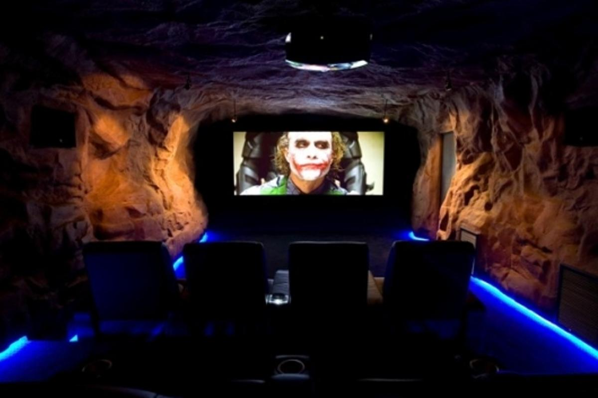 Holy 10ft-wide screen, Batman ... a unique feel to a special home theater