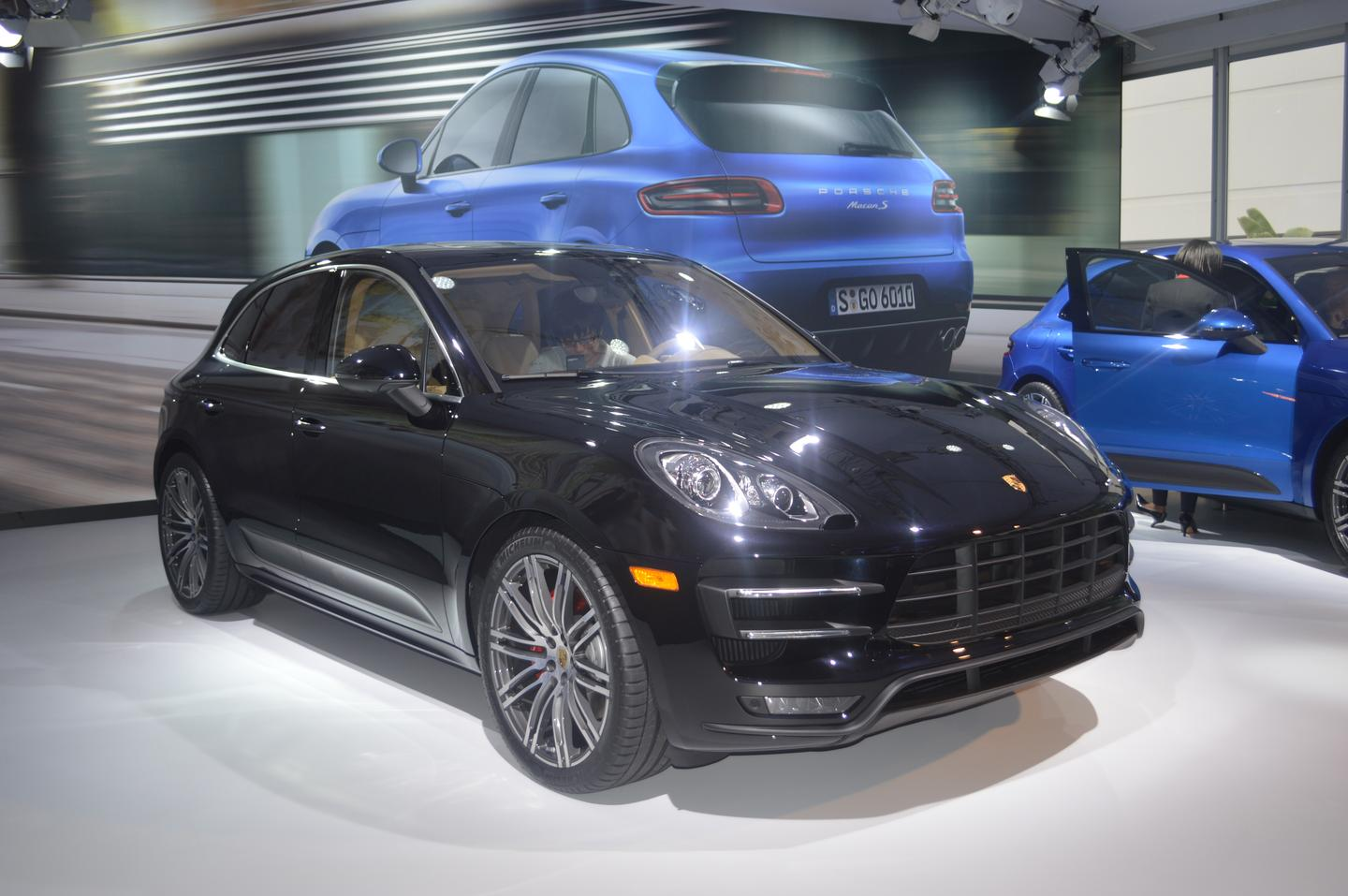 The Porsche Macan Turbo at the Los Angeles Auto Show