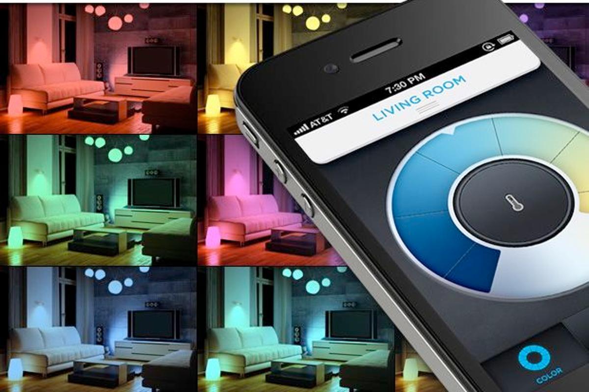 LIFX multicolor LED light bulbs can be controlled via a smartphone app