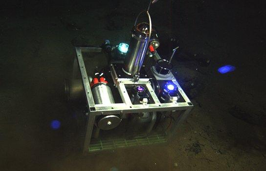 The BlueComm system on the ocean floor (Photo: Sonardyne International)