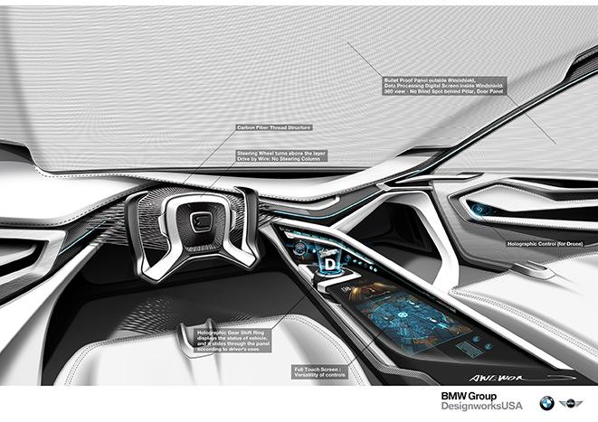 Interior of BMW's E-Patrol