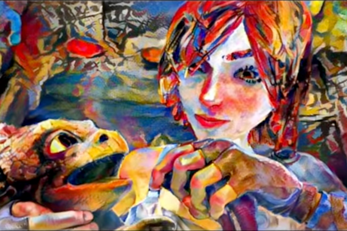 A team at Freiburg University has developed a neural network that takes an art style from an image or painting and applies it smoothly over an entire video