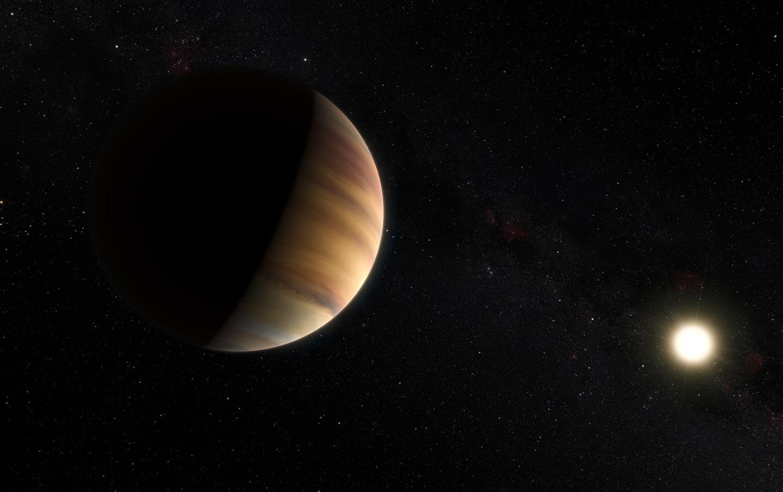 Artist's impression of exoplanet 51 Pegasi b orbiting its parent star (Image: ESO/M. Kornmesser/Nick Risinger (skysurvey.org))