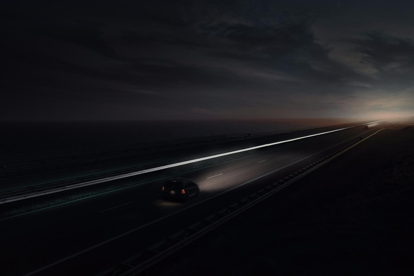 """Line of Light"" will see a reflective layer added to a guide rail that runs along the length of the Afsluitdijk"