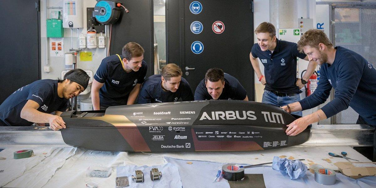 The WARR Hyperloop team tinkers with its pod