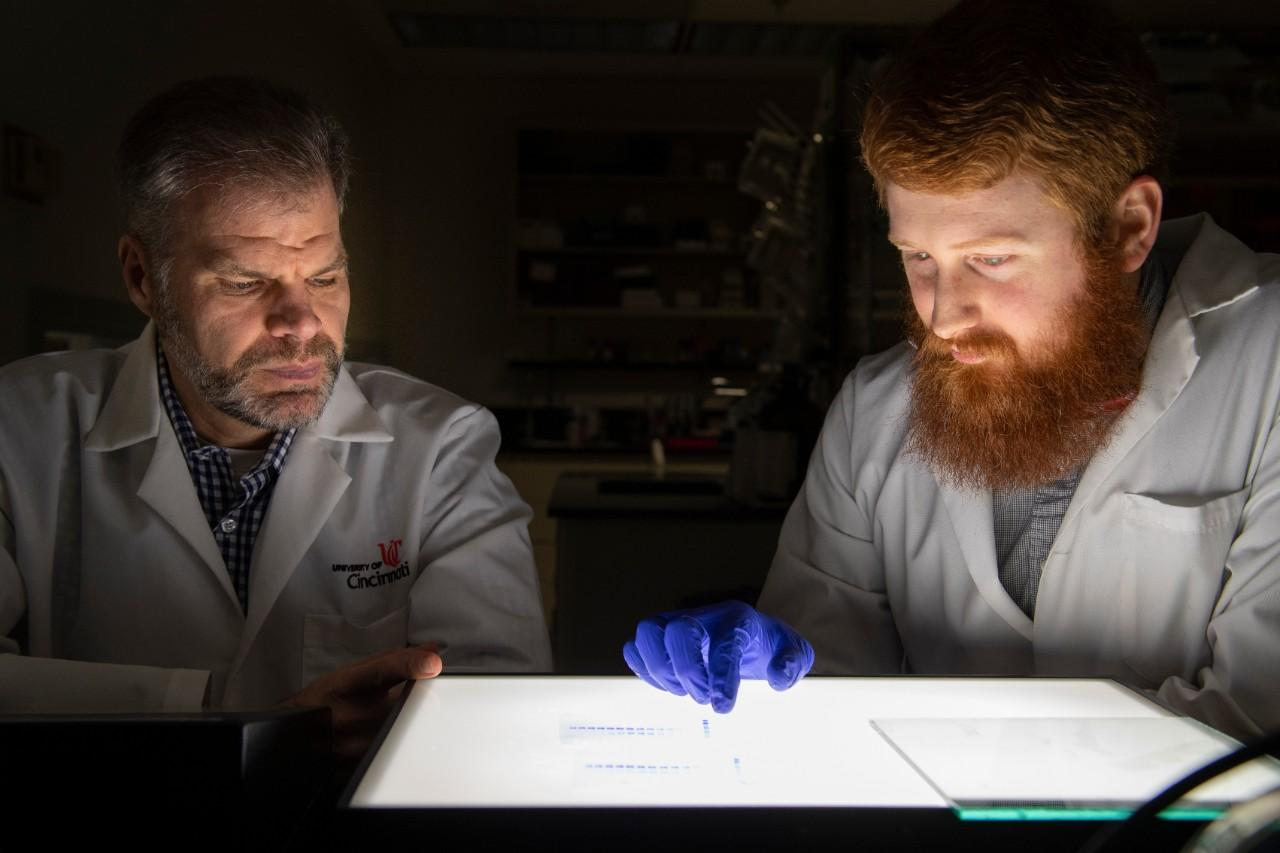 Sean Davidson (left) and Mark Castleberry (right), researchers on the study