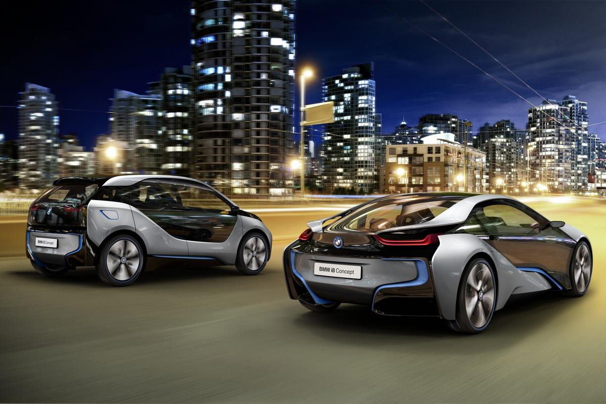 The BMW i3 and i8 electric and hybrid cars