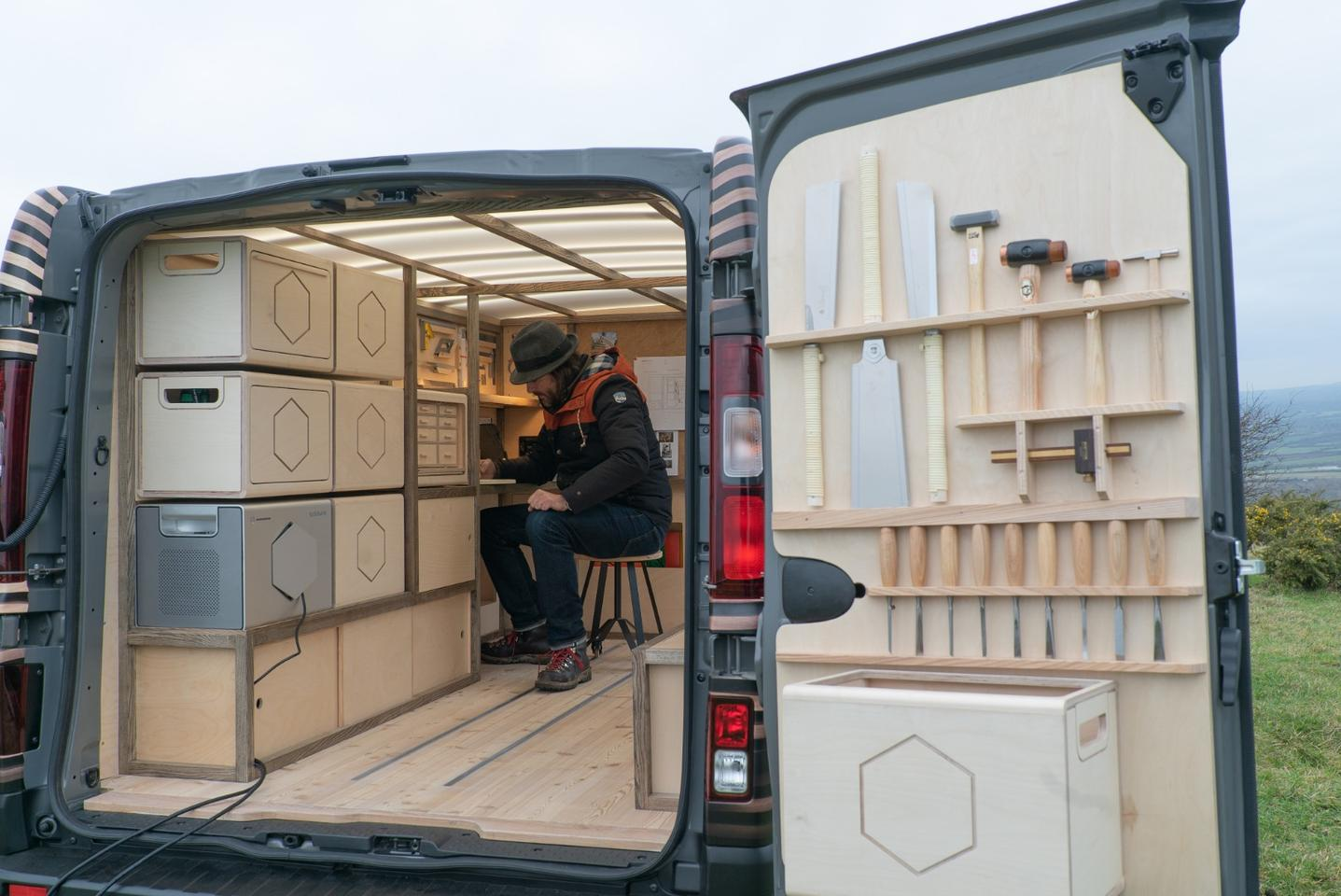 Through a series of imaginative concepts we're seeing how Nissan's versatile NV series vans can be decked out for nomadically minded folks in need of working space