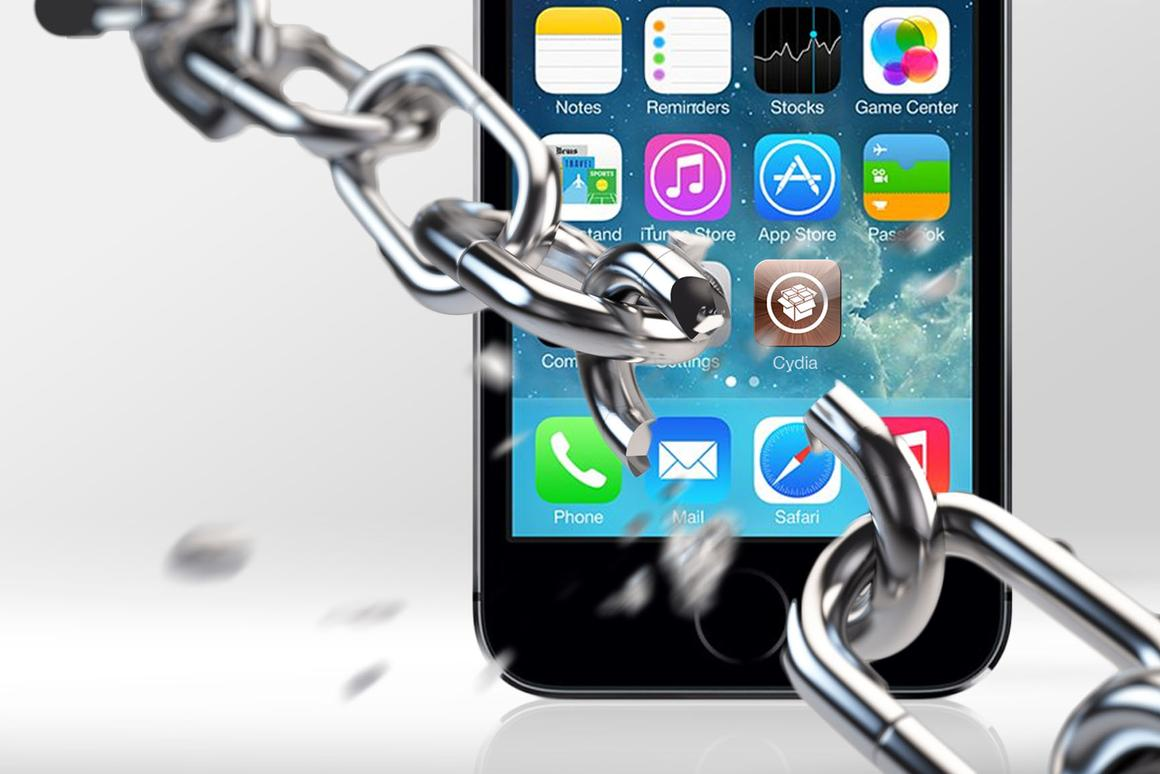 Gizmag's step-by-step instructions walk you through the process of jailbreaking your iOS 7 Apple device (chain: Shutterstock)