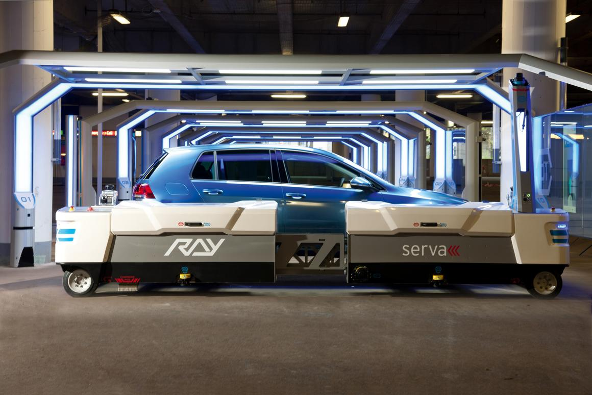 Ray is able to park, transport, and retrieve cars autonomously