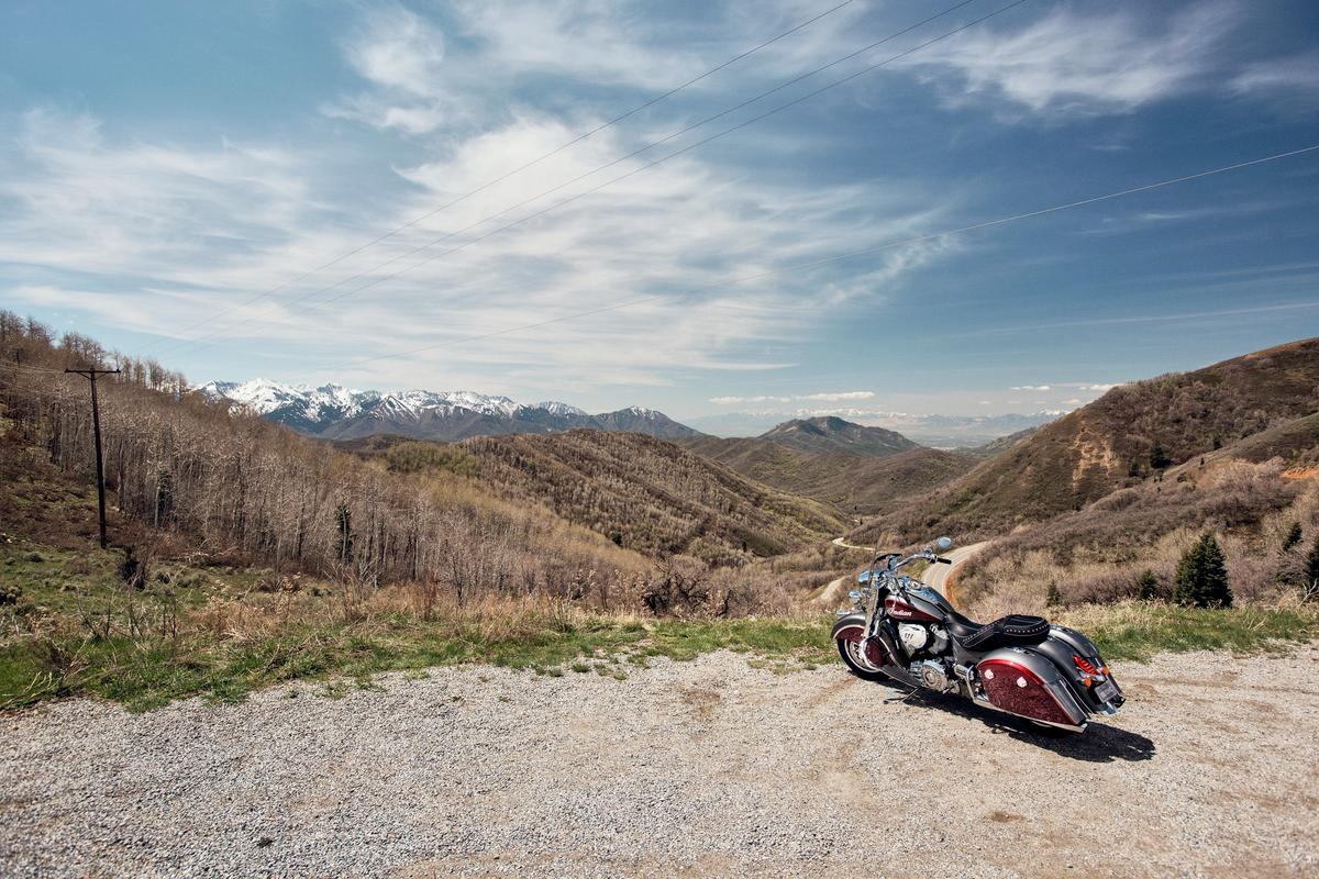 2019 Indian Springfield:ride it to places like this