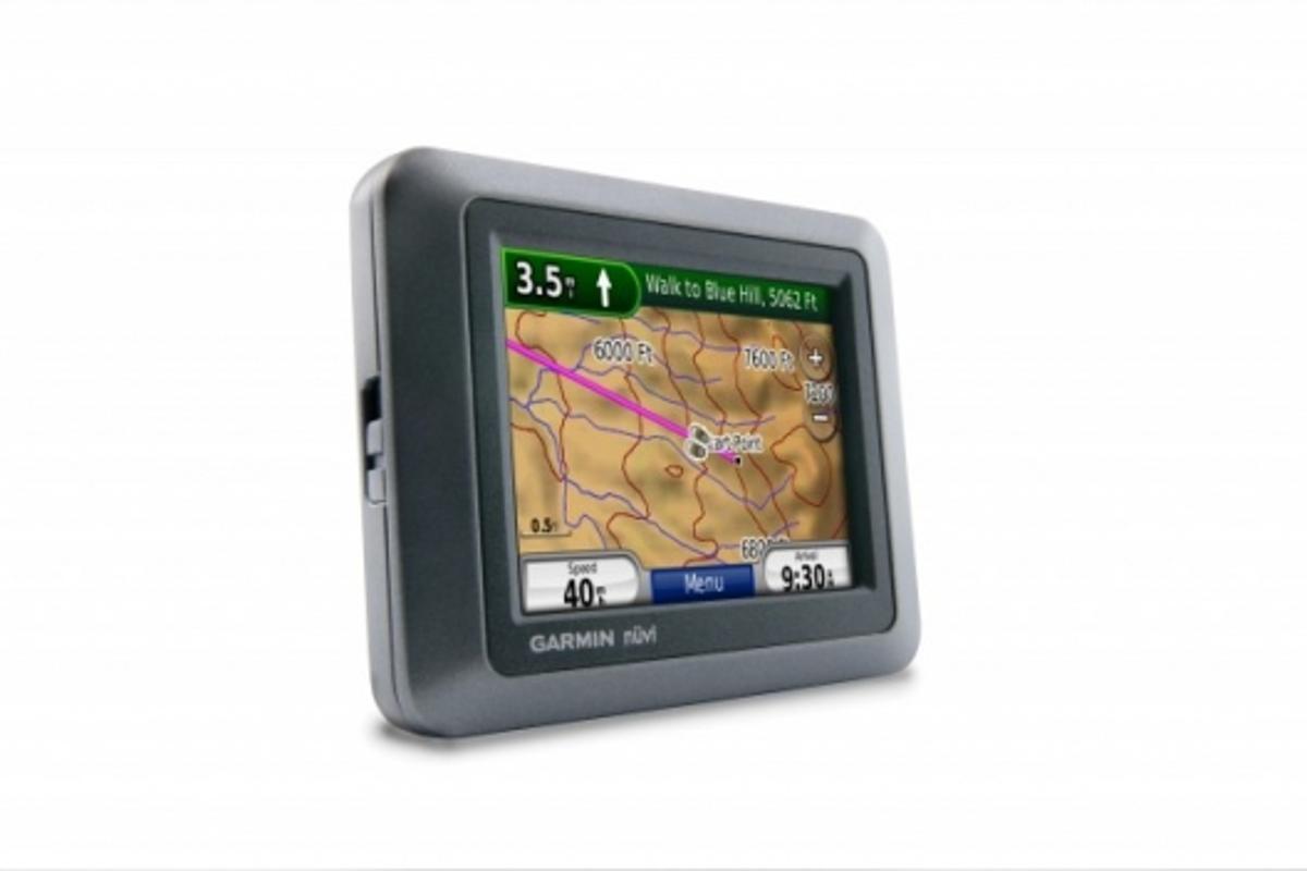 The Garmin nuvi 550 GPS