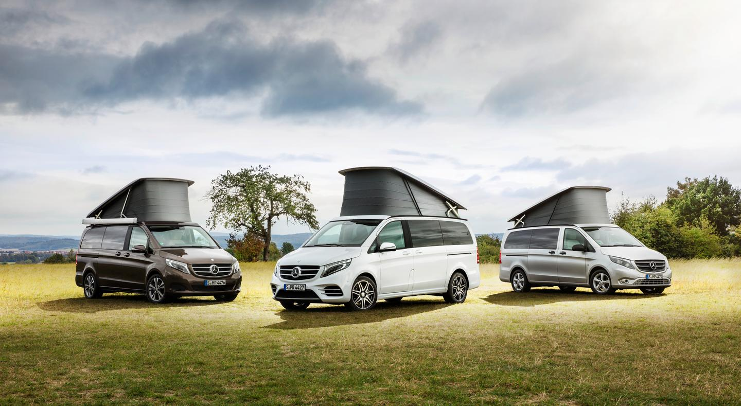 Mercedes will be showing its trio of Marco Polo camper vans at CMT and highlighting a new audio system option