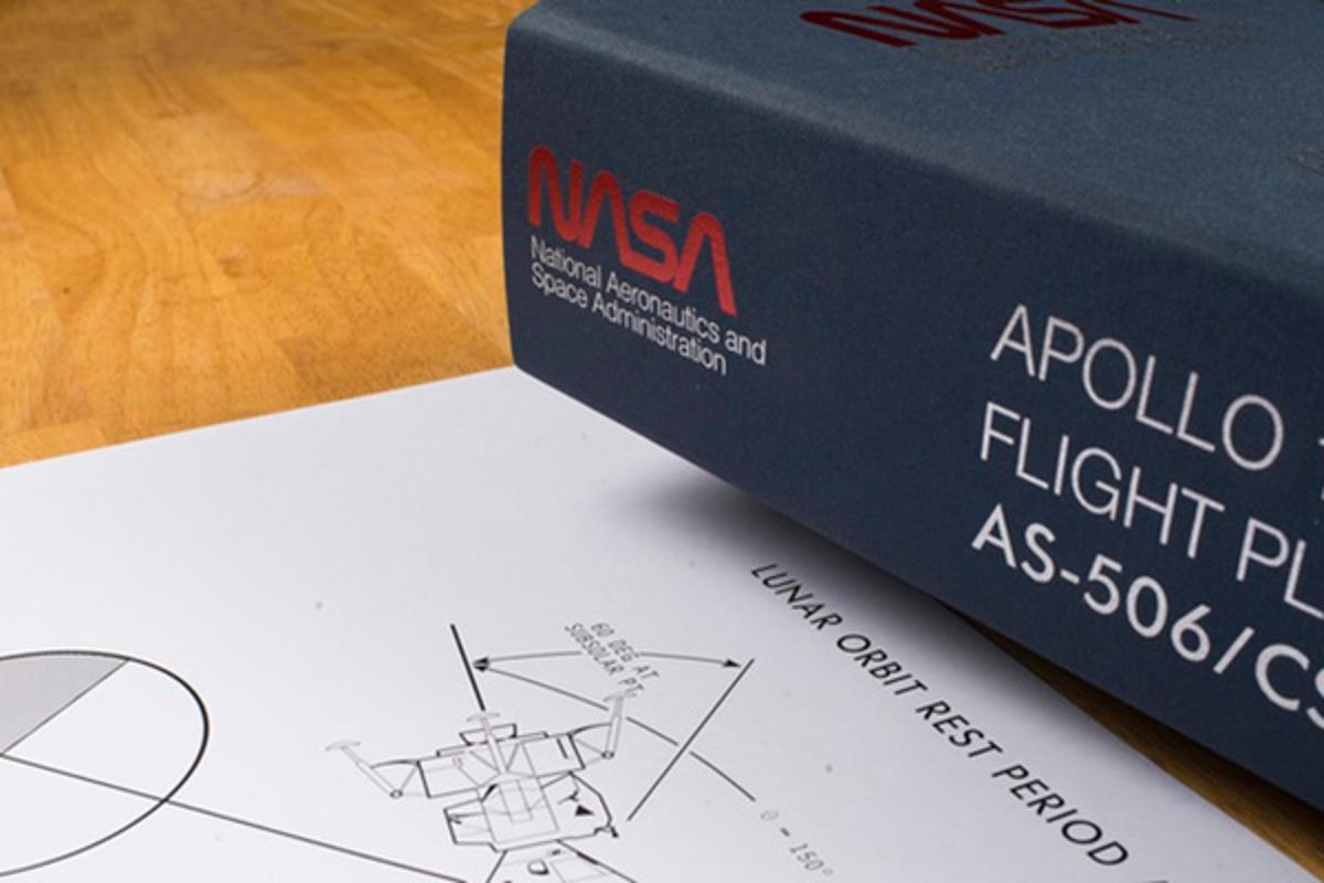 The ReproductionIOteam has worked to accurately recreate all 362 pages of the Apollo 11 flight plan