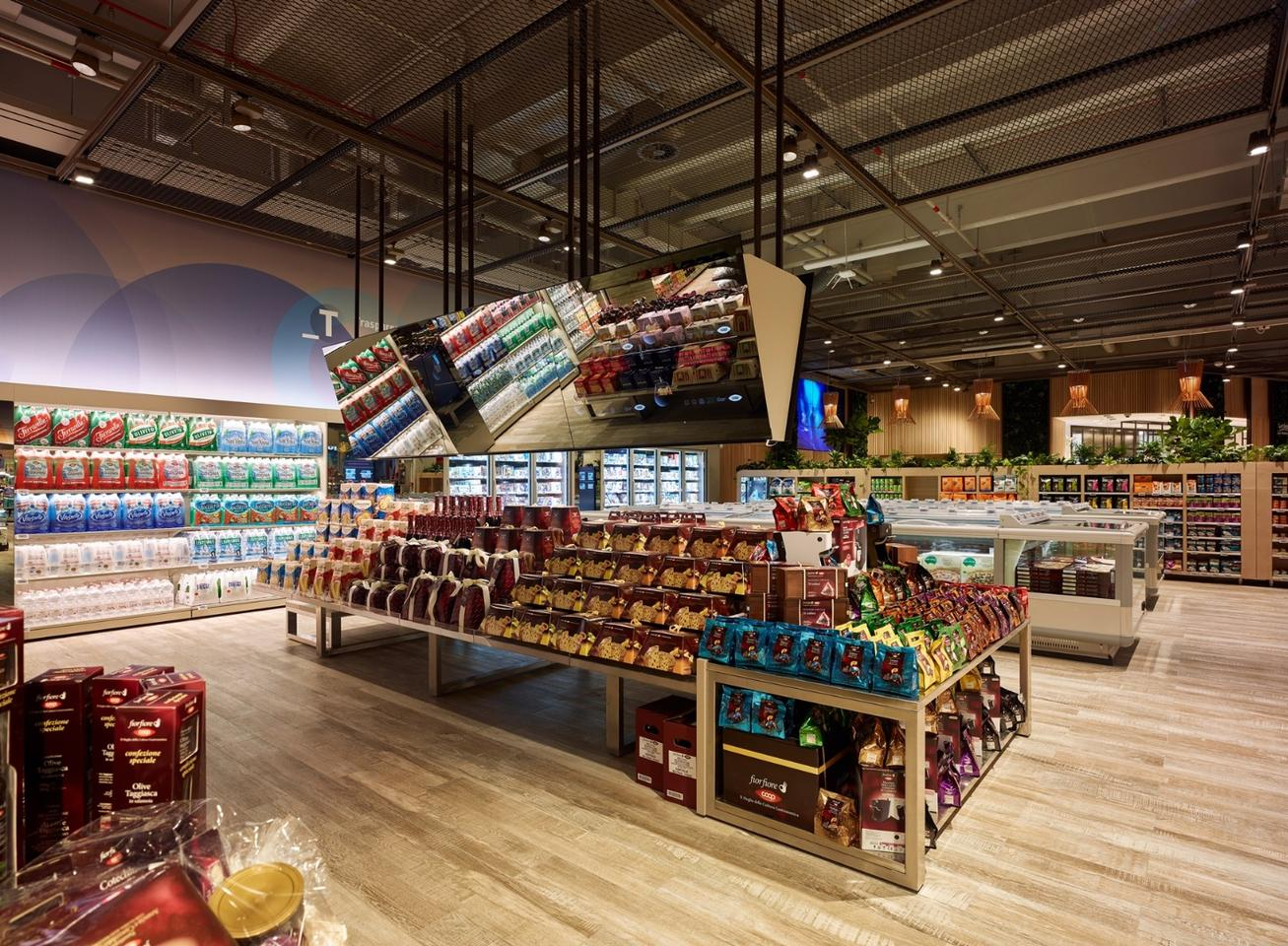 The Supermarket of the Future uses interactive tables to display useful information onmore than 6,000 products