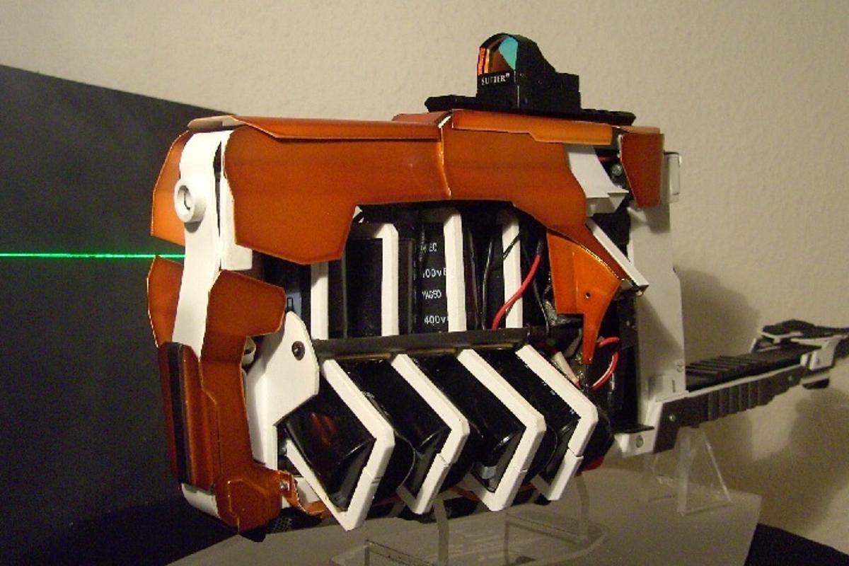 The Gauss Rifle, a homebuilt four-stage coilgun
